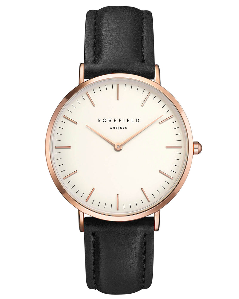 Montre Rosefield The BOWERY White Black Rose Gold BWBLR-B1 - PRECIOVS