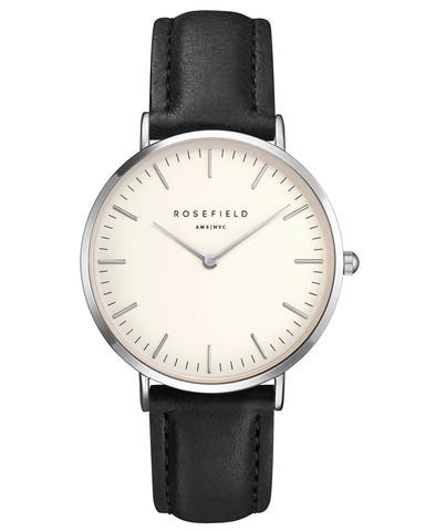 Montre Rosefield The BOWERY White Black Silver BWBLS-B2