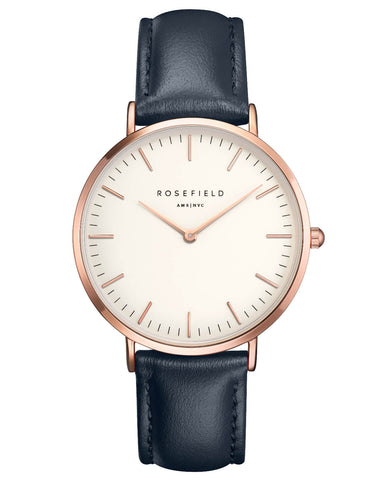 Montre Rosefield The BOWERY White Blue Rose Gold BWBUR-B14