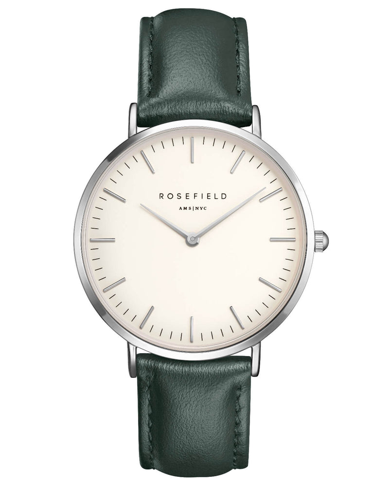 Montre Rosefield The BOWERY White Green Silver BWGES-B17 - PRECIOVS