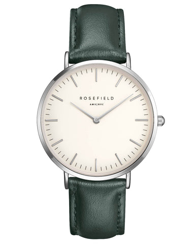 Montre Rosefield The BOWERY White Green Silver BWGES-B17