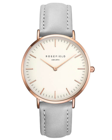 Montre Rosefield The BOWERY White Grey Rose Gold BWGR-B9
