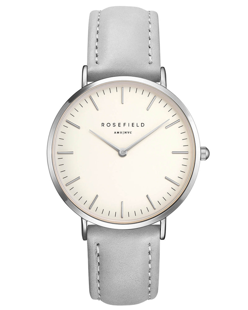 Montre Rosefield The BOWERY White Grey Silver BWGS-B10 - PRECIOVS