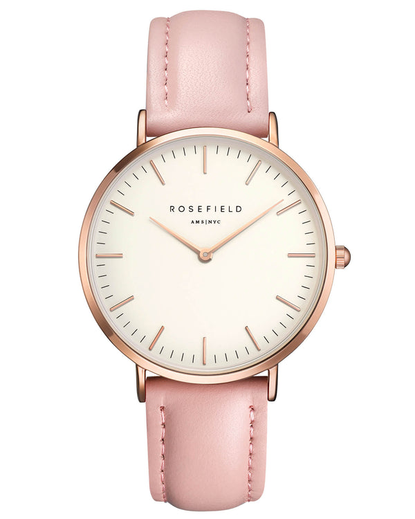 Montre Rosefield The BOWERY White Pink Rose Gold BWPR-B7 - PRECIOVS