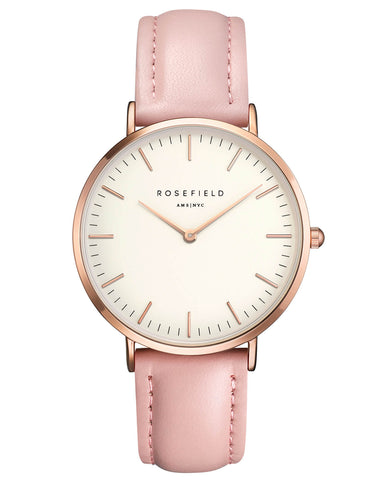 Montre Rosefield The BOWERY White Pink Rose Gold BWPR-B7