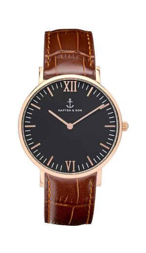 Montre Kapten & Son Black Brown Croco Leather