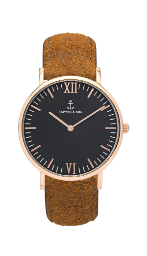 Montre Kapten & Son Black Brown Vintage Leather