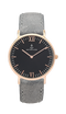 Montre Kapten & Son Black Grey Vintage Leather