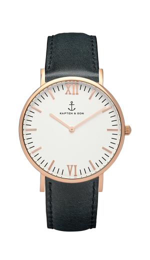 Montre Kapten & Son Black Leather - PRECIOVS