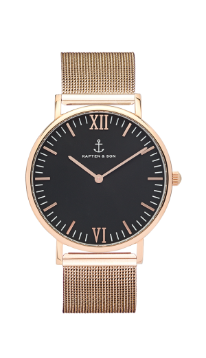 Montre Kapten & Son Black Mesh