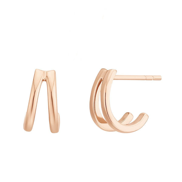 Boucles d'oreilles I.Ma.Gi.N Jewels Bo ring duo Rose Gold - PRECIOVS