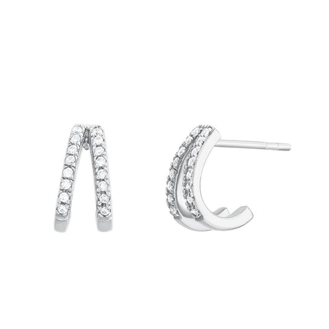Boucles d'oreilles I.Ma.Gi.N Jewels Bo ring duo white Argent