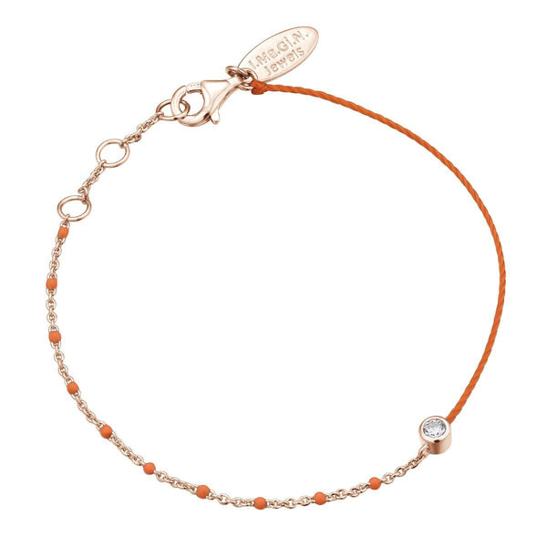 Bracelet I.Ma.Gi.N Jewels Br enamel duo fluo orange Rose Gold - PRECIOVS