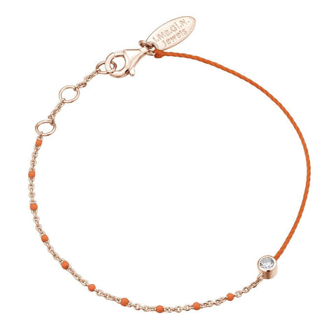 Bracelet I.Ma.Gi.N Jewels Br enamel duo fluo orange Rose Gold