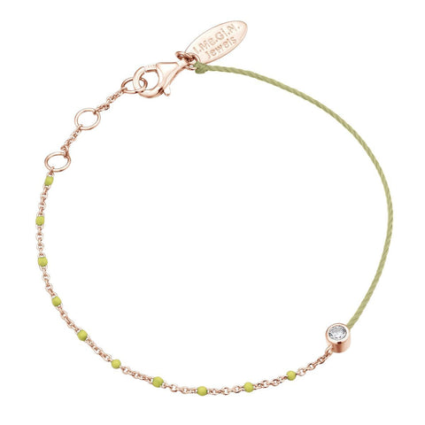 Bracelet I.Ma.Gi.N Jewels Br enamel duo fluo yellow Rose Gold