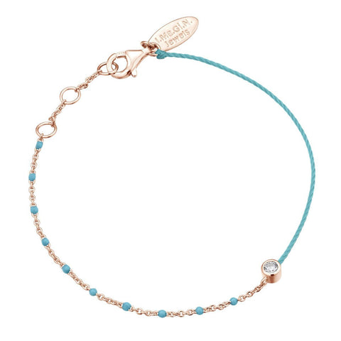 Bracelet I.Ma.Gi.N Jewels Br enamel duo turquoise Rose Gold