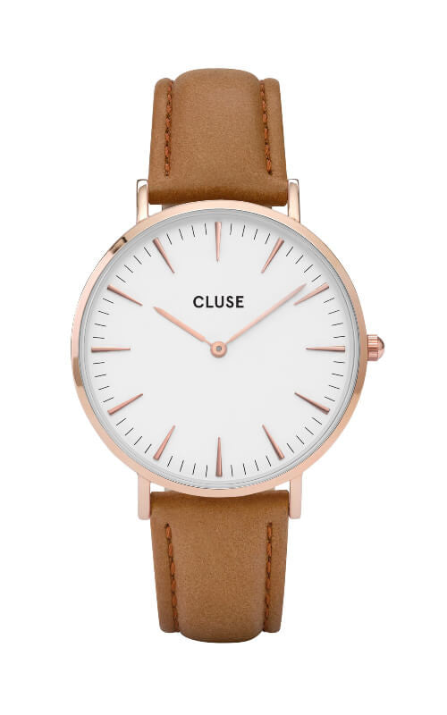 Montre CLUSE La Bohème Rose Gold White-Caramel CL18011