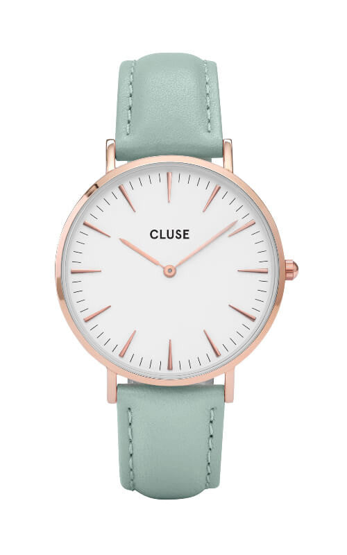 Montre CLUSE La Bohème Rose Gold White/Pastel Mint CL18021 - PRECIOVS