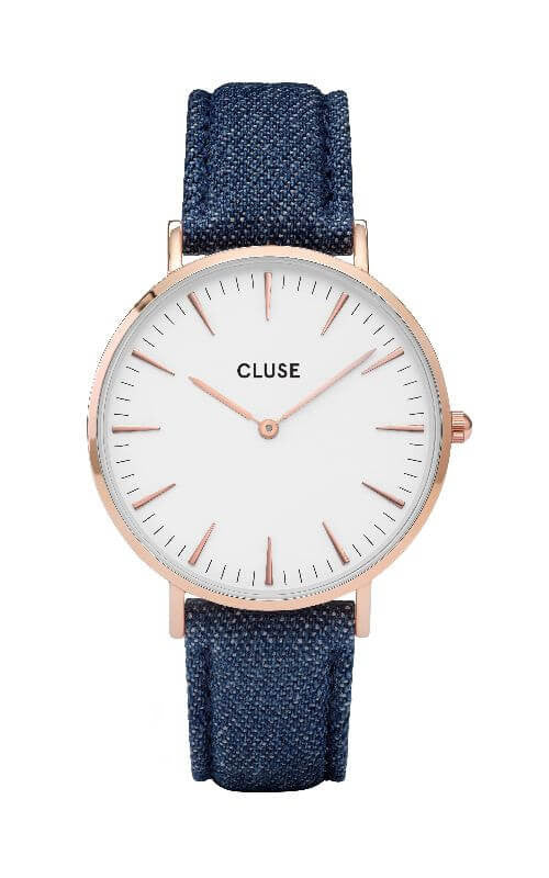 Montre CLUSE La Bohème Rose Gold White/Blue Denim CL18025 - PRECIOVS