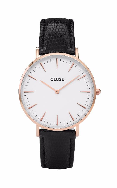 Montre CLUSE La Bohème Rose Gold White/Black Lizard CL18037 - PRECIOVS