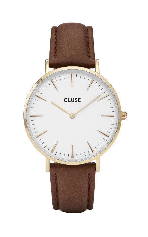 Montre CLUSE La Bohème Gold White-Brown CL18408