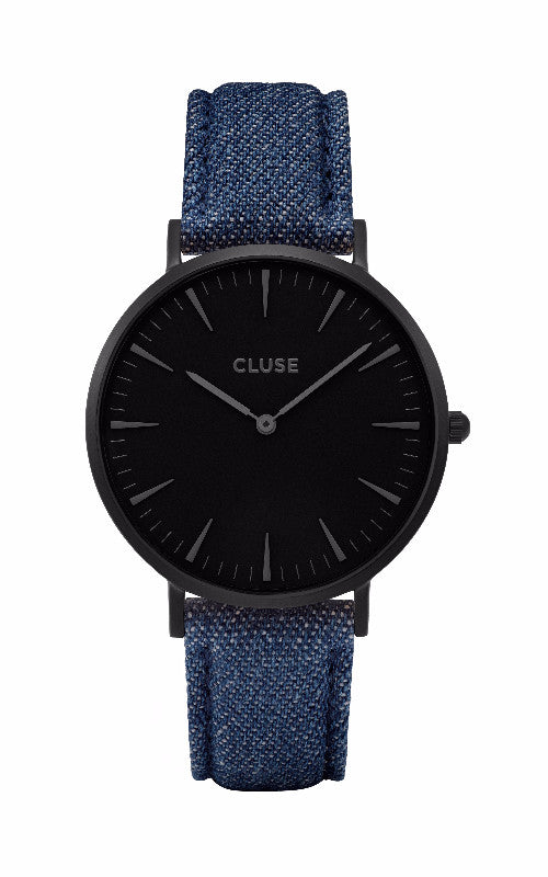 Montre CLUSE La Bohème Full Black/Blue Denim CL18507 - PRECIOVS