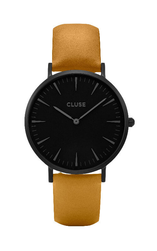 Montre CLUSE La Bohème Full Black/Mustard CL18508