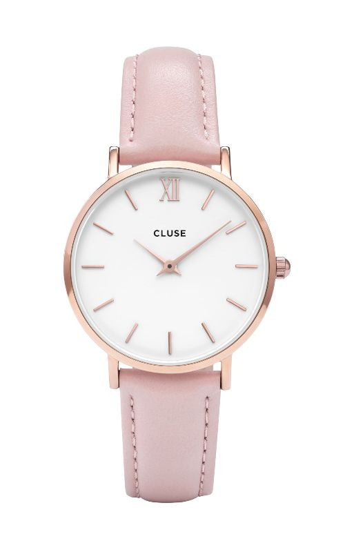 Montre CLUSE Minuit Rose Gold White Pink CL30001 - PRECIOVS