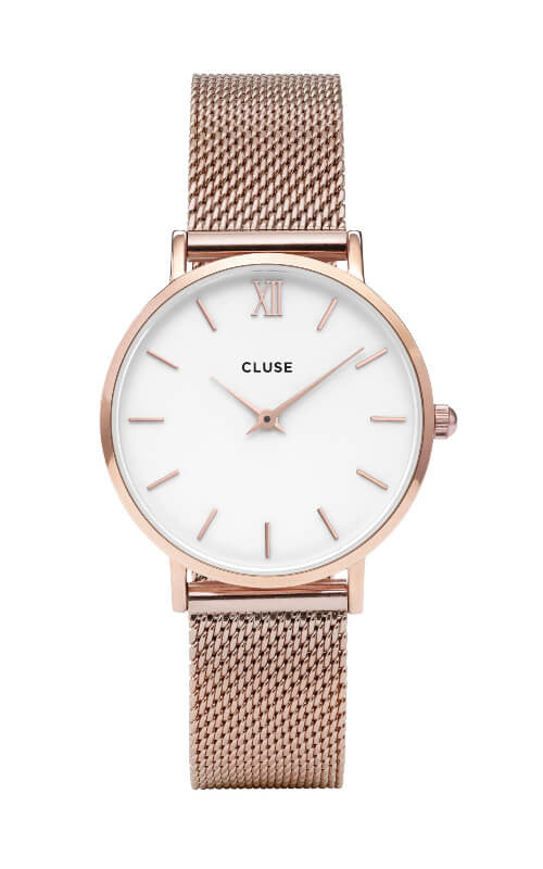 Minuit Mesh Rose Gold/White CL30013