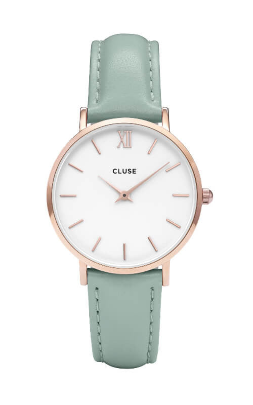 Montre Cluse Minuit Rose Gold White/Pastel Mint CL30017 - PRECIOVS