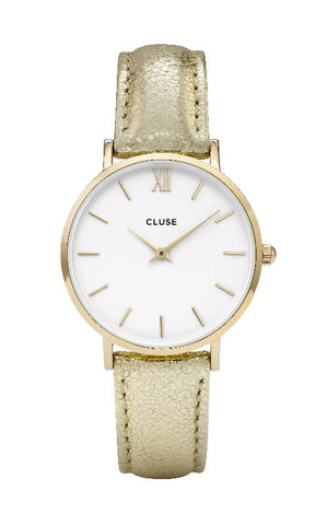 Montre CLUSE Minuit Gold White/Gold Metallic CL30036