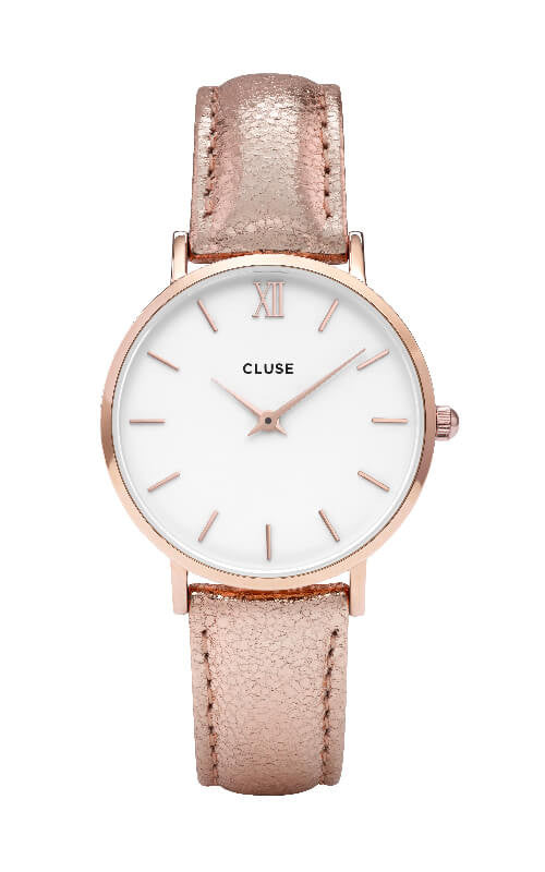 Montre CLUSE Minuit Rose Gold White/Rose Gold Metallic CL30038