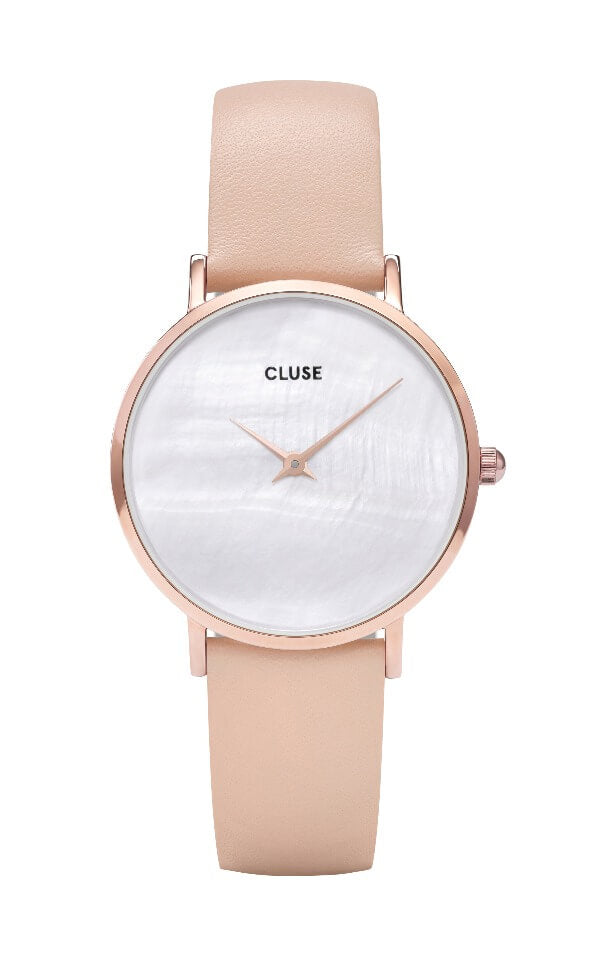 White Cluse Minuit Montre Cl30059 La Perle Rose Pearlnude Gold vnN08Omyw