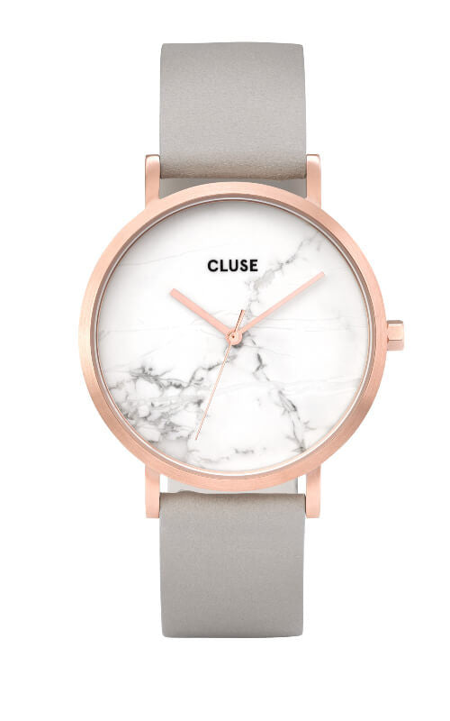 Montre CLUSE La Roche Rose Gold White Marble CL40005
