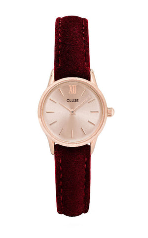 Montre CLUSE La Vedette Rose Gold Red Velvet CL50018