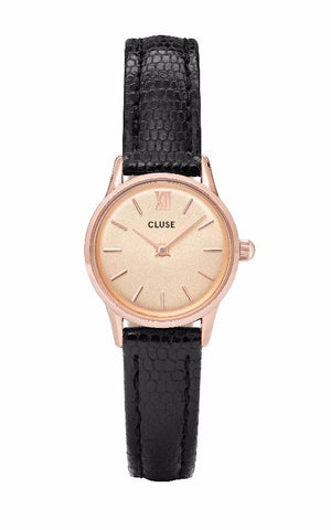 Montre CLUSE La Vedette Rose Gold Champagne/Black Lizard CL50028