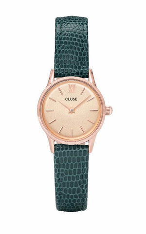 Montre CLUSE La Vedette Rose Gold Champagne/Emerald Lizard CL50029