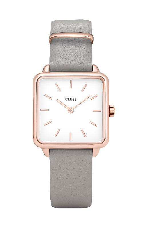 Montre CLUSE La Tétragone Rose Gold White/Stone Grey CL60005 - PRECIOVS