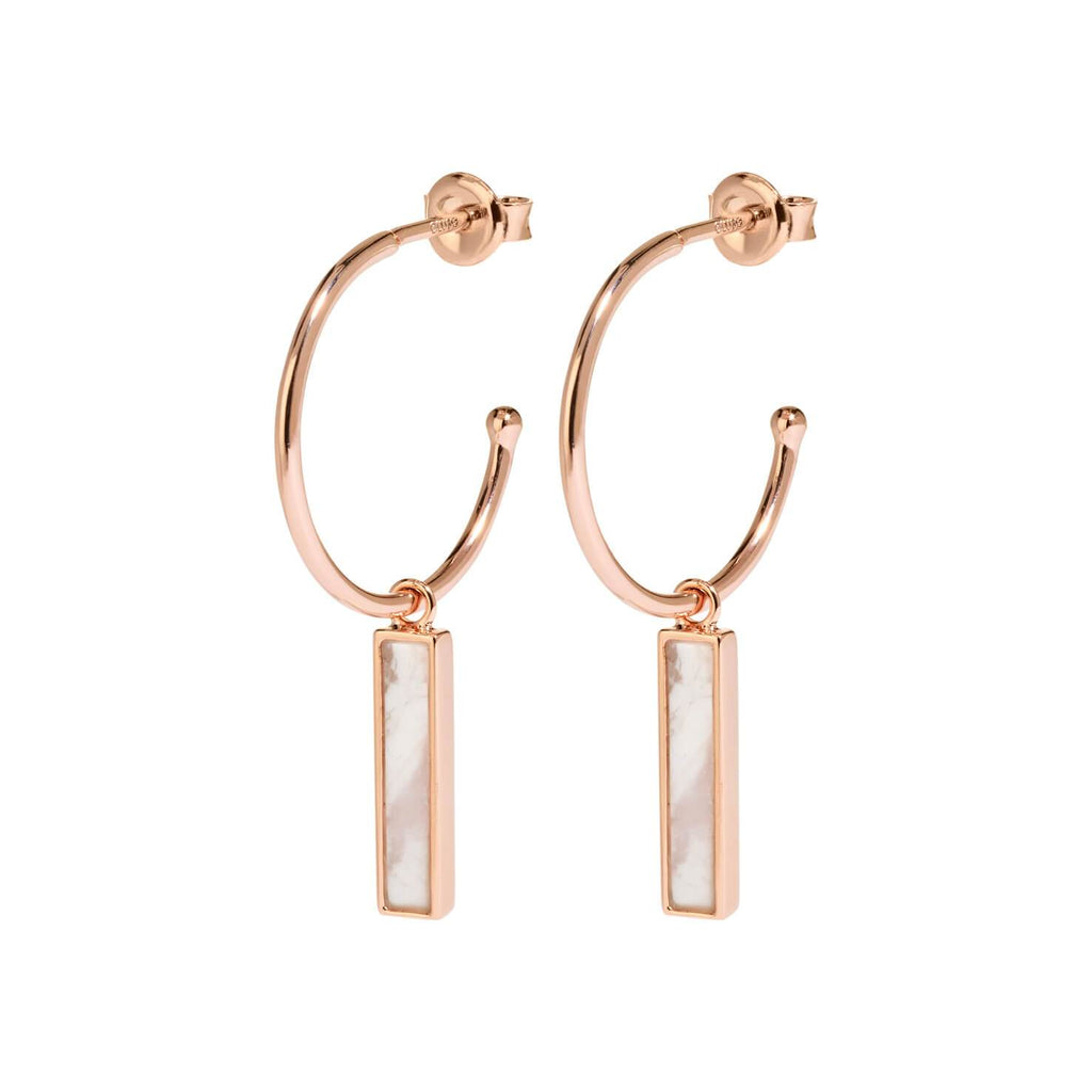 Boucles d'oreilles CLUSE Idylle Rose Gold Marble Bar Hoop CLJ50001