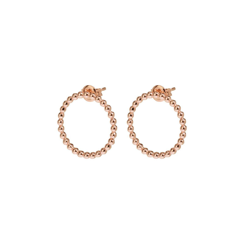 Boucles d'oreilles CLUSE Essentielle Rose Gold Open Circle Embellished Stud CLJ50007 - PRECIOVS