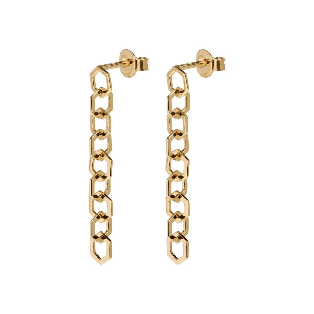 Boucles d'oreilles CLUSE Essentielle Gold Open Hexagons Chain CLJ51009