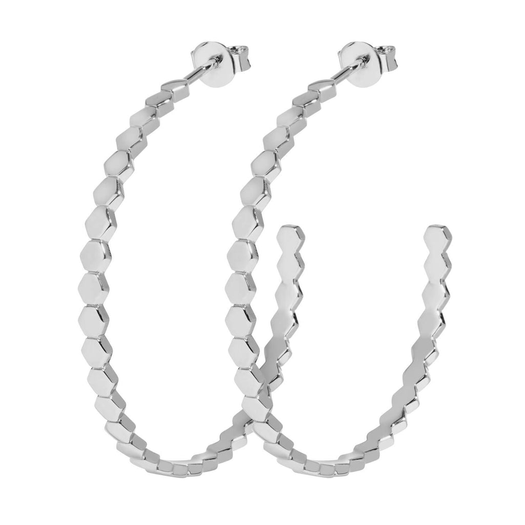 Boucles d'oreilles CLUSE Essentielle Silver All Hexagons Hoop CLJ52008