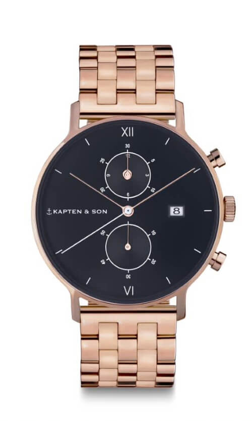 Montre Kapten & Son Chrono Black Steel - PRECIOVS