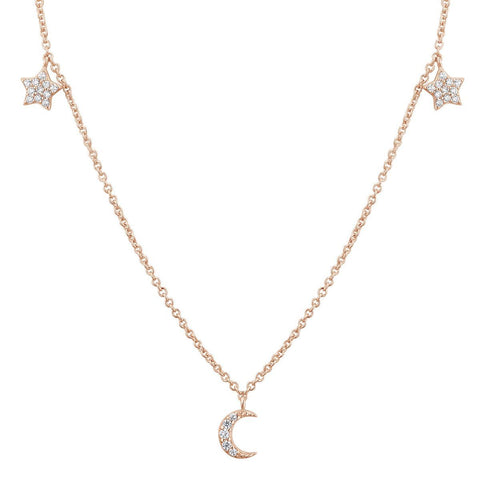 Collier I.Ma.Gi.N Jewels Co galaxy star Rose Gold