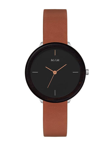 Montre MAM Originals Dark Ebony Fauve