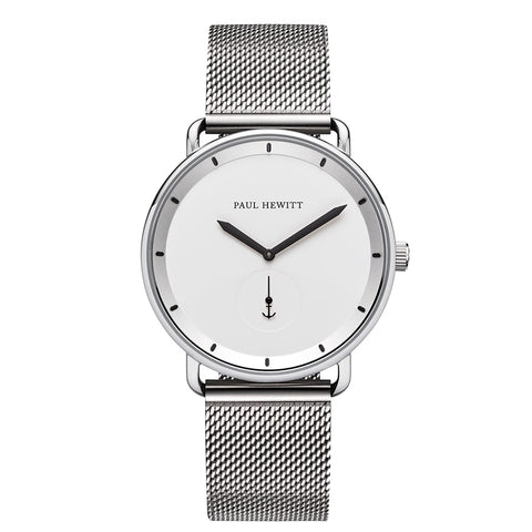 Montre Paul Hewitt Breakwater Line White Acier Inoxydable Bande Mesh