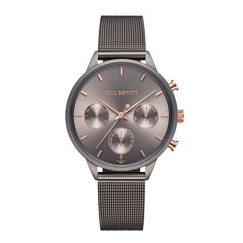 Montre Paul Hewitt Everpulse Line Grey Metallic Sunray IP Grey Metallic Bande Mesh