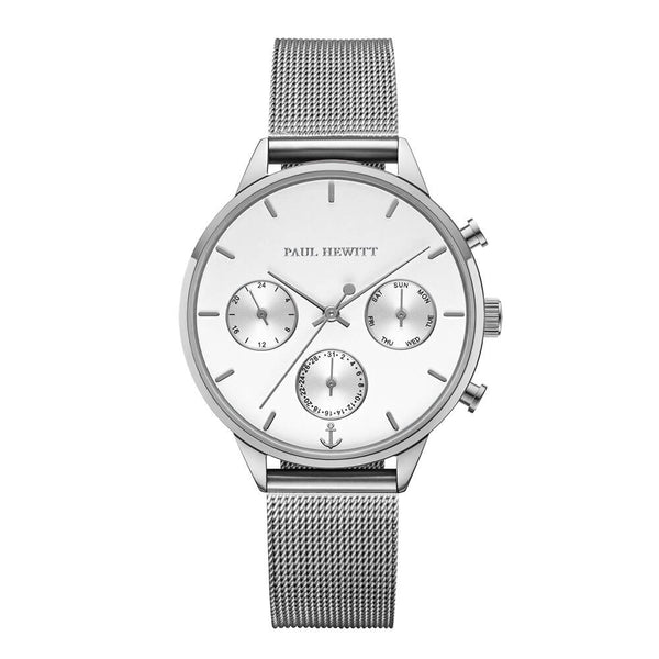 Montre Paul Hewitt Everpulse White Sand Argenté Mesh - PRECIOVS