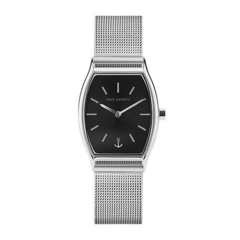 Montre Paul Hewitt Modern Edge Line Black Sunray Acier Inoxydable Bande Mesh
