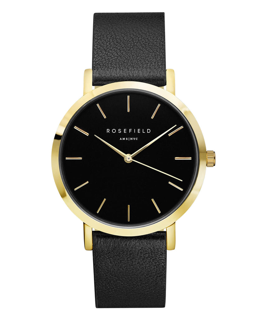 Montre Rosefield The GRAMERCY Black Black Gold GBBLG-G36